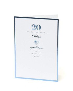 20th Anniversary Card - China 20 Years Together