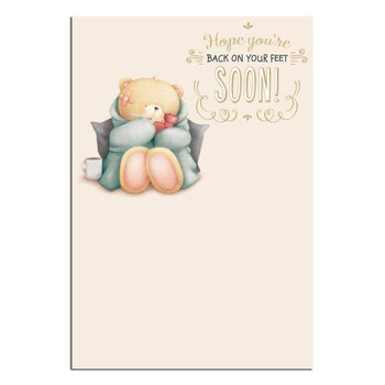 Forever Friends Get Well Soon Card with Happy Thoughts