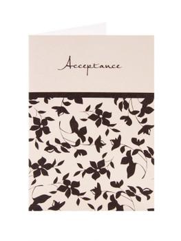 Black & Cream Acceptance Card