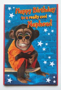 Crazy Chimp Nephew Birthday Card