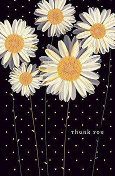 Big Daisy Thank You Blank For Own Message New Card