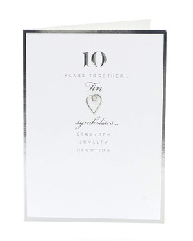 10th Anniversary Card Tin 10 Years Together