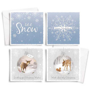 10 Square Winter Wonderland Trend Christmas Cards