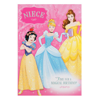 Disney Princess Magical Niece Birthday Card