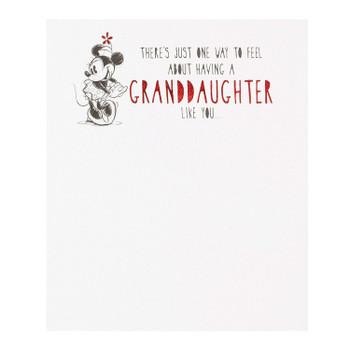 Classic Disney Minnie Granddaughter Birthday Card