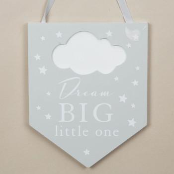 Bambino Baby Banner Plaque - Dream Big