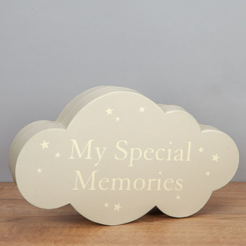 Baby Bambino Cloud Shape Keepsake Box