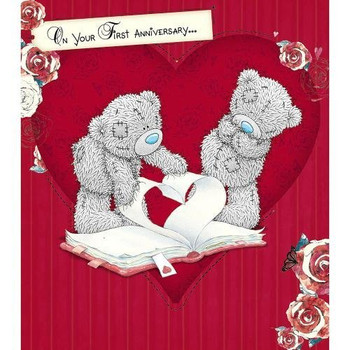 1st Anniversary Me to You Bear Card