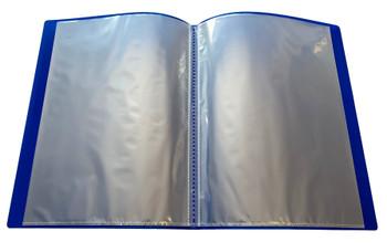 A4 Blue Flexible Cover 10 Pocket Display Book