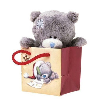 "4"" Bear In Christmas Gift Bag Me to You Bear"