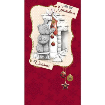 From Your Grandson Me to You Bear Christmas Card