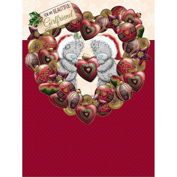 Beautiful Girlfriend Large Die-Cut Luxury Christmas Card