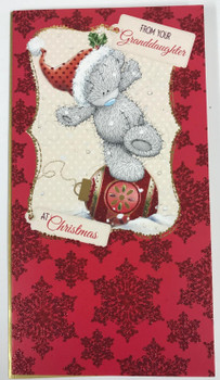 From Your Granddaughter Me to You Bear Christmas Card