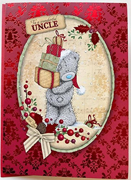Me to You Bear Wonderful Uncle Christmas Greeting Card