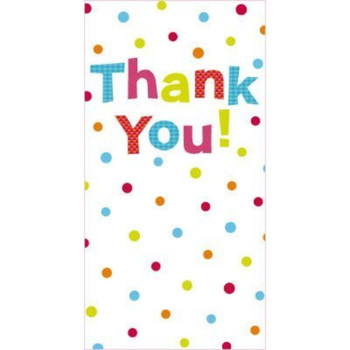 8 Pack Glitter Finished Thank You Cards with Spots