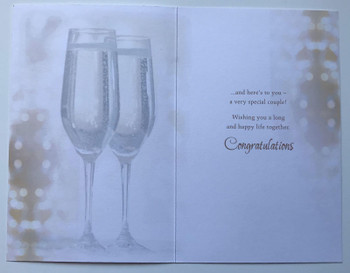 A Wedding Toast For The Happy Couple Congratulation card