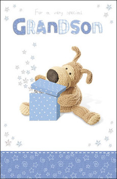 Boofle Grandson Birthday Card Pop-Out Sign