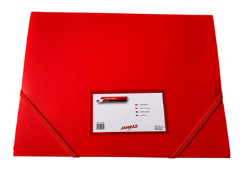 Janrax A4 Red 3 Flap Folder with Elasticated Closure