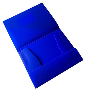 Janrax A4 Blue 3 Flap Folder with Elasticated Closure