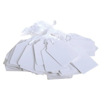 Box of 1000 White Merchandise Tags 24mm x 16mm