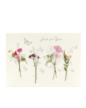 Pretty Floral Birthday Card Just For You  Friend Female