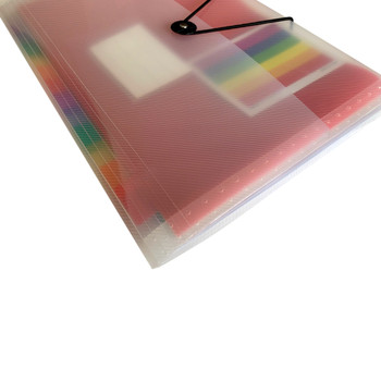 A4 13 Part Rainbow Coloured Tabs Expanding File with Elastic Closure