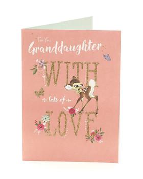 Disney Bambi Granddaughter Birthday Card