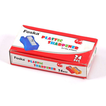 Pack of 24 Coloured Plastic Pencil Sharpeners