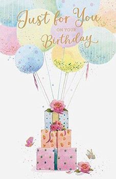 Balloons Just for You Birthday Card