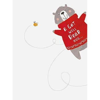 A Bear Hug Get Well Card