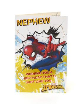 Disney Spiderman Nephew Birthday Card