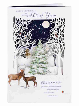 Winter Nights All Of You Christmas Card