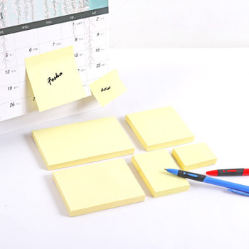 Pack of 100 Yellow Self Sticky Notes Yellow 75mm x 125mm