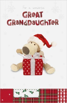 Boofle Great Granddaughter Christmas Card