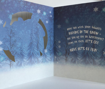 """Merry Christmas Meet The Fun Experts"" Disney's Frozen Christmas Card For Boys Featuring Olaf The Snowman, Kristoff And Sven The Reindeer"