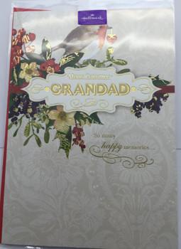 Grandad at Christmas Hallmark Greetings Card