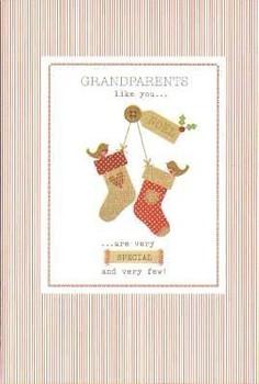 Grandparents at Christmas Hallmark Card