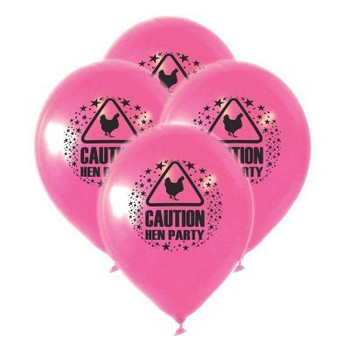 Balloons 23 cm Hen Party with print