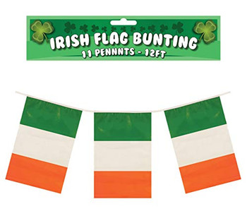 Ireland Flags Bunting 12ft with 11 Eire with Pvc Pennants