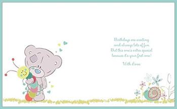 1st Birthday Boy Me to You Bear Handmade Boxed Card