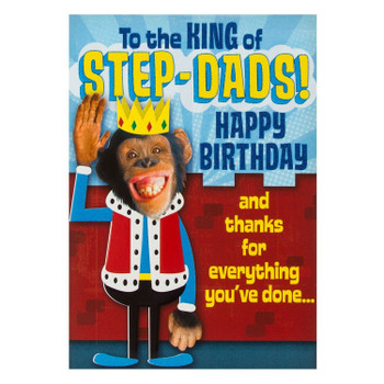 Birthday Card For 'King of Step-dads'