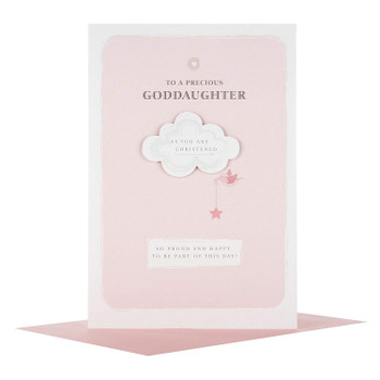 """So Proud"" Goddaughter Christening Card"
