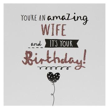 Hallmark Birthday Card For Wife 'You're Amazing' Medium Square