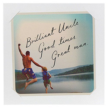 Hallmark Birthday Card For Uncle 'Good Times Great Man' Medium Square