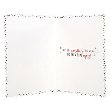 Hallmark Christmas Card To Sister 'Glittery & Glamorous' Medium
