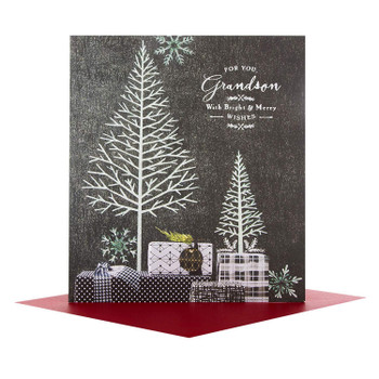 Grandson Christmas Card 'Bright and Merry'