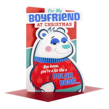 "Boyfriend Christmas Card ""Nice to Cuddle"""