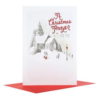 """Good Cheer"" Christmas Prayer Traditional Card Hallmark Medium"