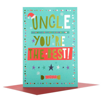 "Hallmark Medium Uncle ""You""re The Best"" Christmas Card"