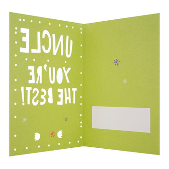 "Hallmark Medium Uncle ""You""re The Best"" Christmas Card"